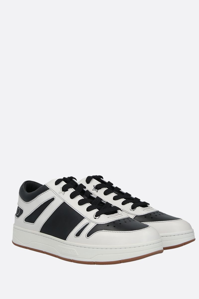 JIMMY CHOO: HAwaii/M bicolour smooth leather sneakers Color Black_2
