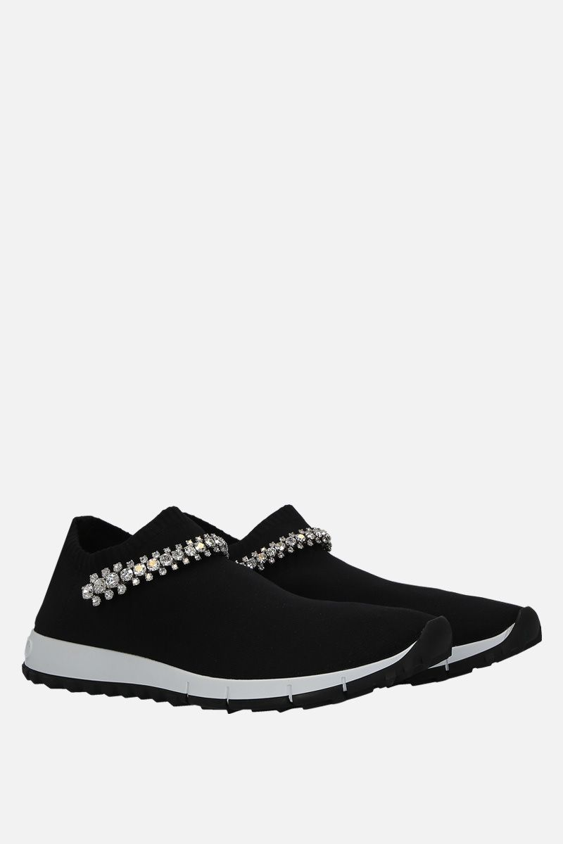 JIMMY CHOO: Verona slip-on sneakers in stretch knit Color Black_2