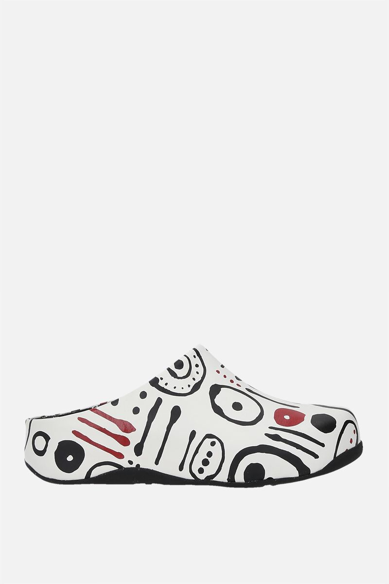 FITFLOP X 10 CORSO COMO: Shuv smooth leather mules Color Red_1