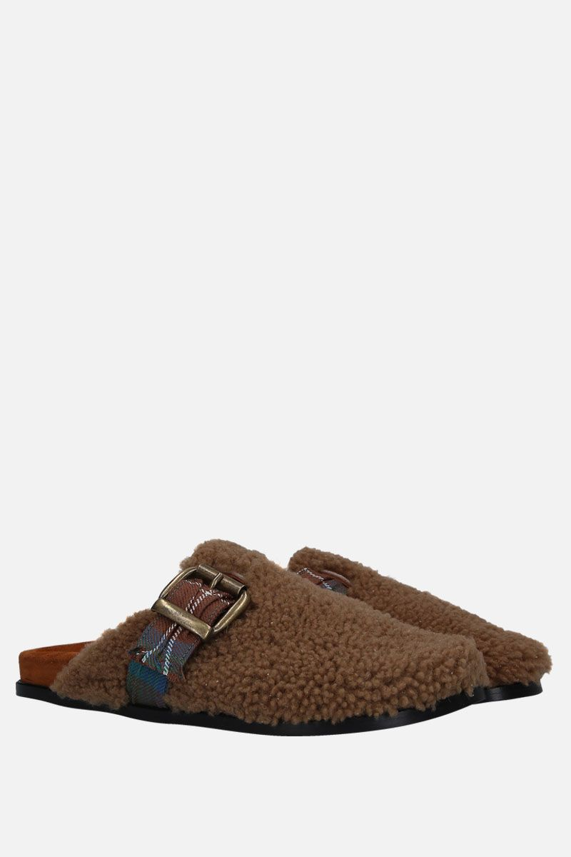 AVEC MODERATION: Whistler slippers in shearling Color Neutral_2