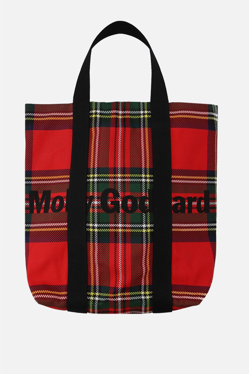 MOLLY GODDARD: Cameron large canvas tote bag Color Red_1