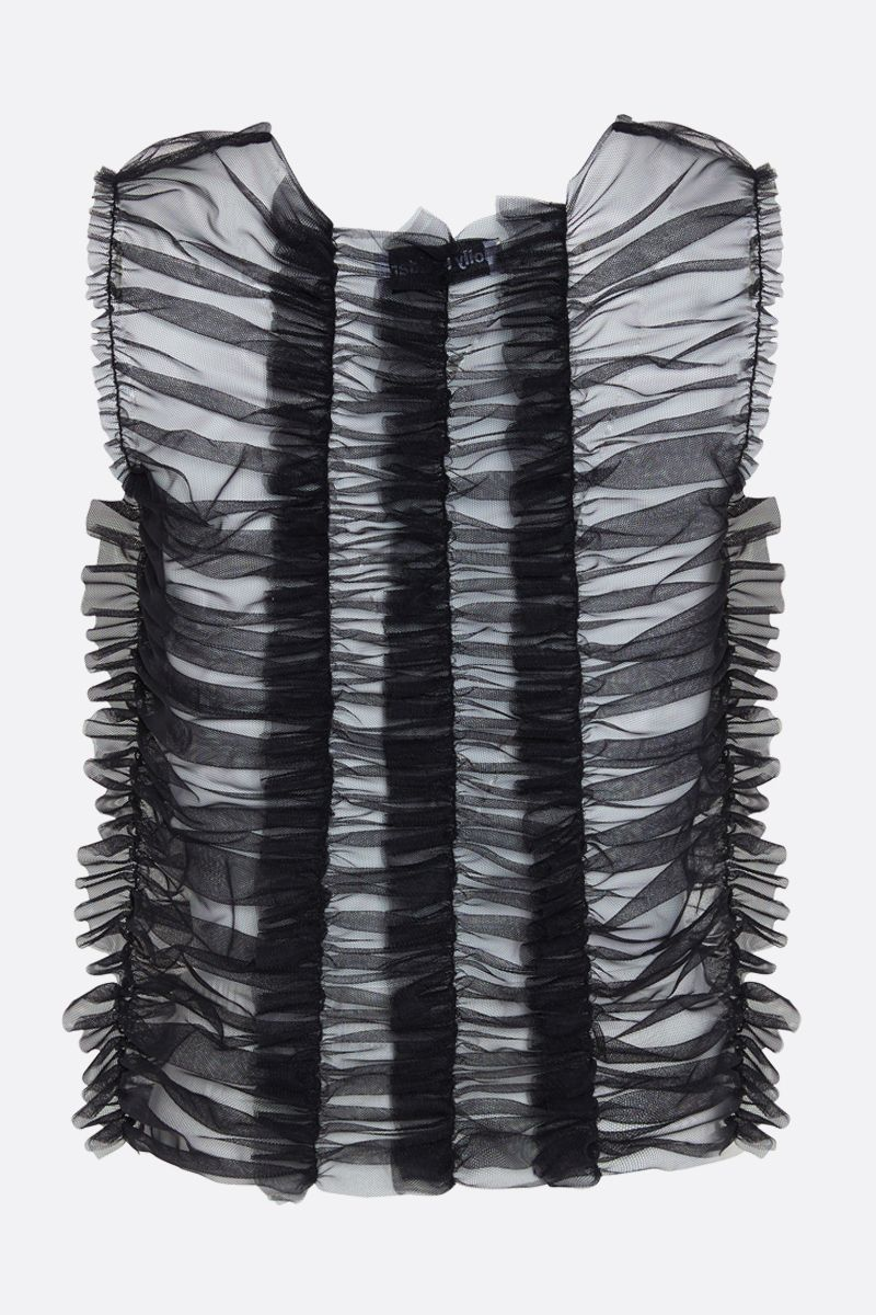MOLLY GODDARD: Joly tulle sleeveless top Color Black_2