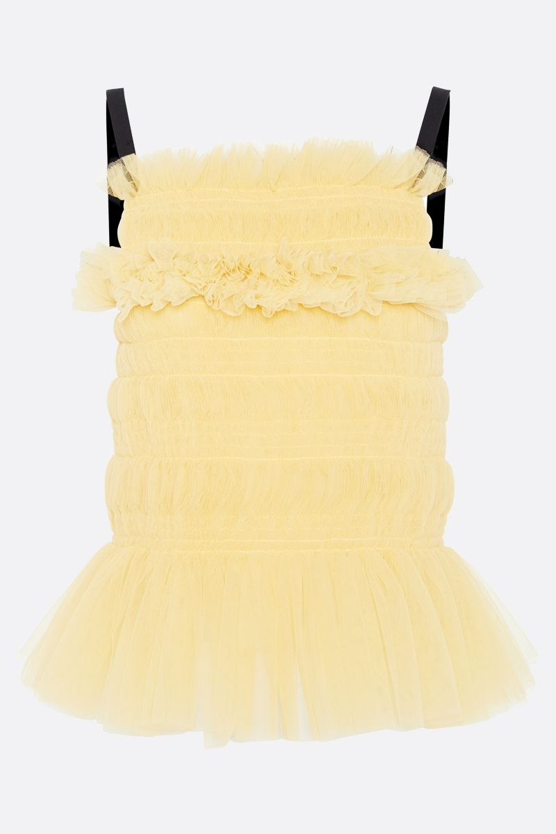 MOLLY GODDARD: top Betsy in tulle Colore Giallo_1