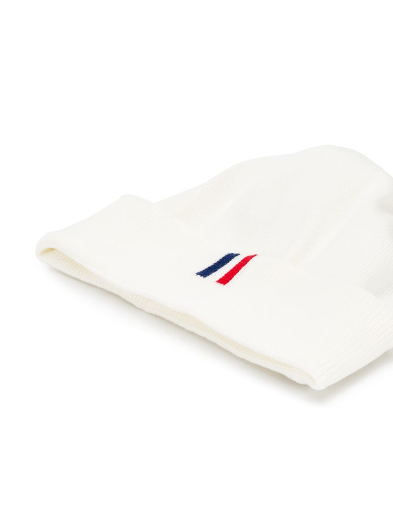 MONCLER KIDS: cotton knit beanie Color White_2