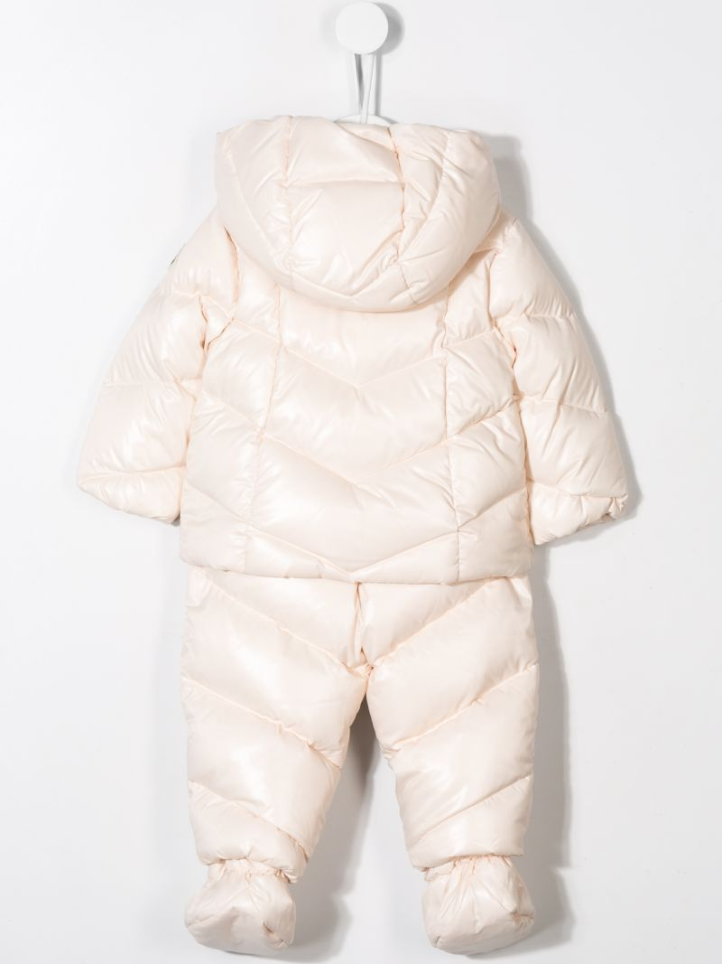 MONCLER KIDS: down jacket and overalls in shiny nylon Color Pink_2