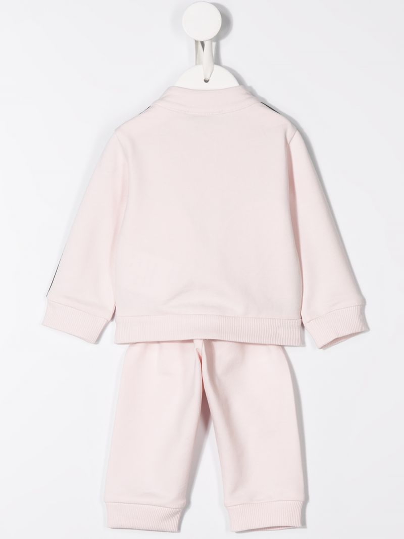 MONCLER KIDS: jersey tracksuit with logoed bands Color Pink_2