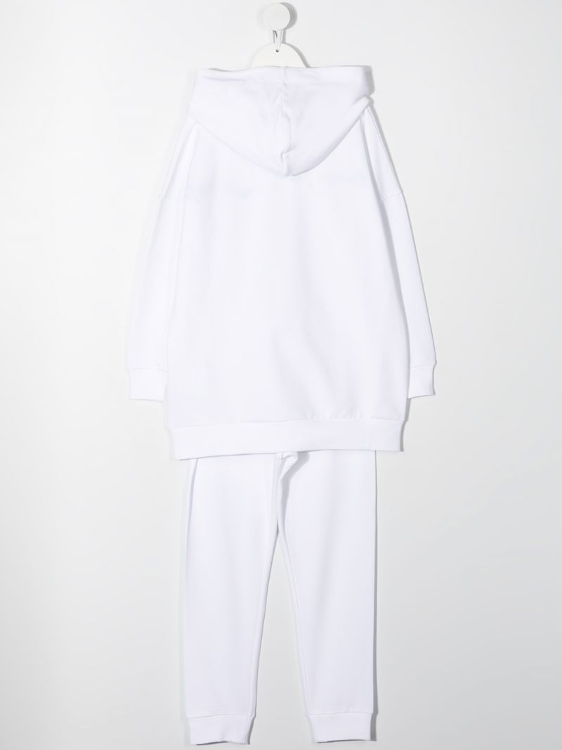 MONCLER KIDS: stretch cotton tracksuit Color White_2