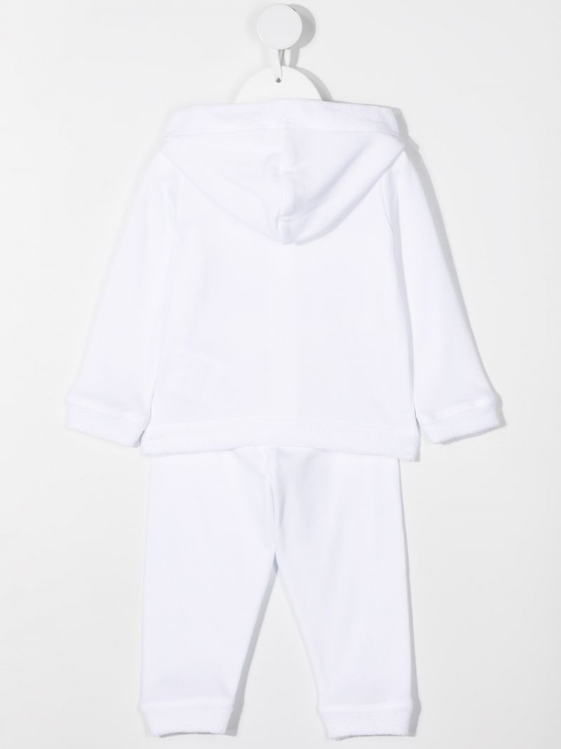 MONCLER KIDS: ruche-detailed cotton tracksuit Color White_2
