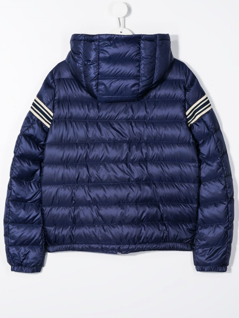 MONCLER KIDS: Renald nylon down jacket Color Blue_2