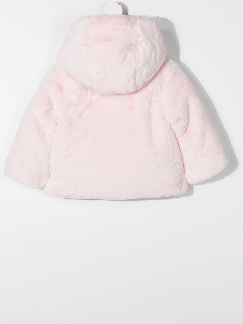 MONCLER KIDS: faux fur down jacket Color Pink_2
