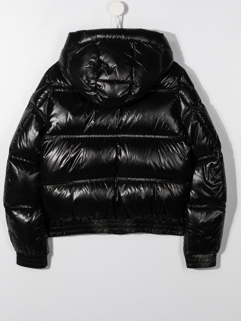 MONCLER KIDS: Citisio laquè nylon down jacket Color Black_2