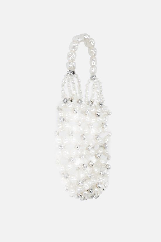 SIMONE ROCHA: crystal-embellished resin handbag Color White_2