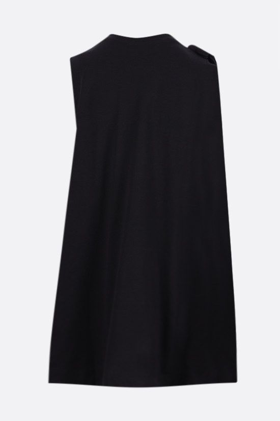 SIMONE ROCHA: bow-detailed cotton sleeveless top Color Black_2