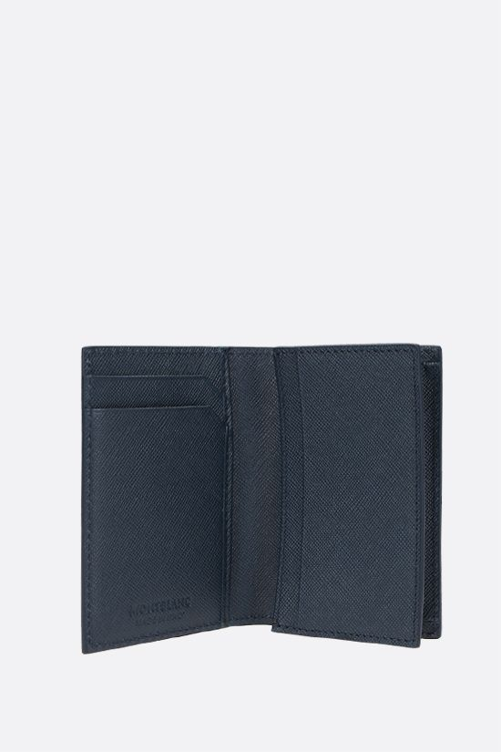 MONTBLANC: Montblanc Sartorial textured leather business card holder Color Blue_2