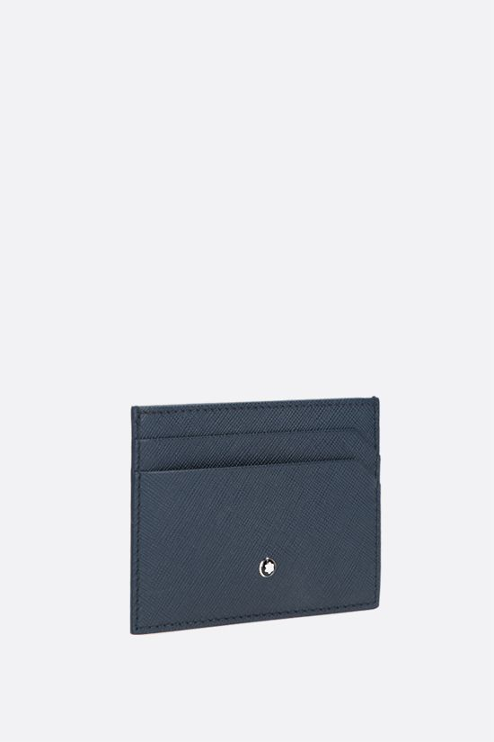 MONTBLANC: Montblanc Sartorial textured leather card case Color Blue_2