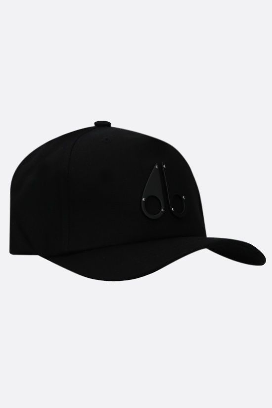 MOOSE KNUCKLES: Logo Icon cotton baseball cap Color Black_2