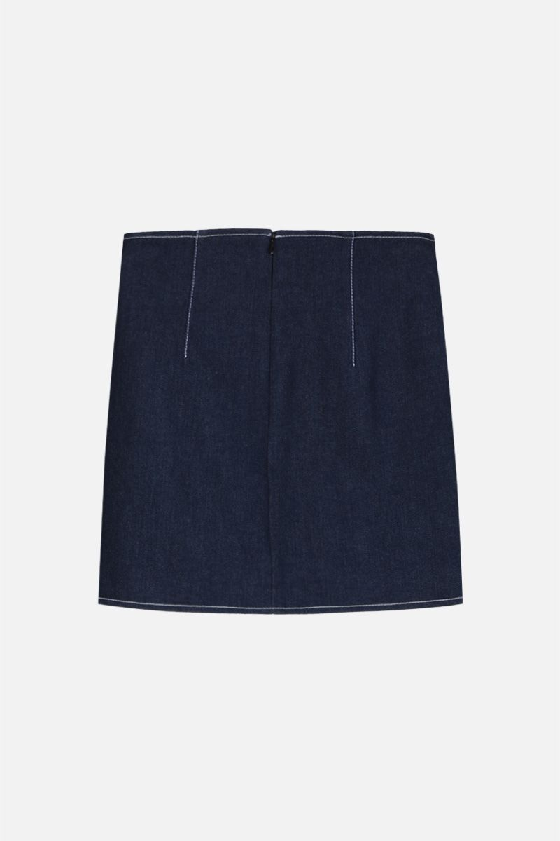 GIUSEPPE DI MORABITO: denim miniskirt with jeweled buttons Color Blue_2