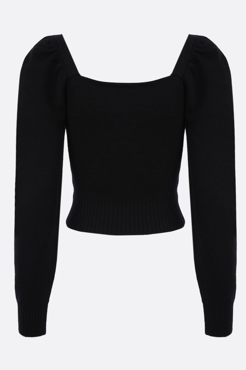 GIUSEPPE DI MORABITO: jewel button-detailed wool cropped pullover Color Black_2