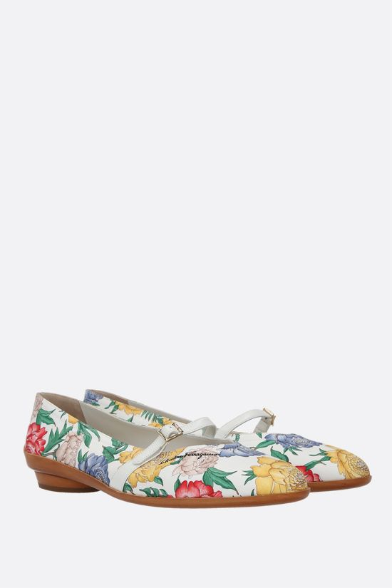 FERRAGAMO'S CREATIONS: Audrey twill ballerinas Color Multicolor_2