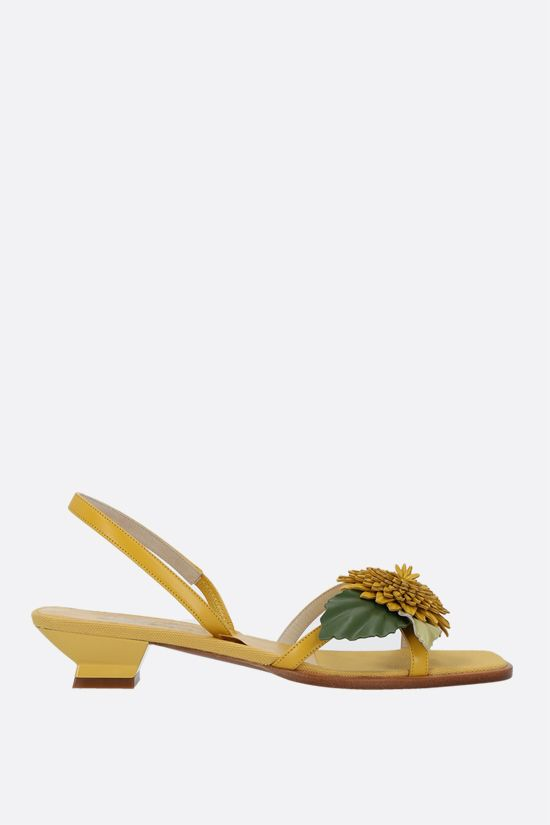 FERRAGAMO'S CREATIONS: Tester smooth leather sandals Color Yellow_1
