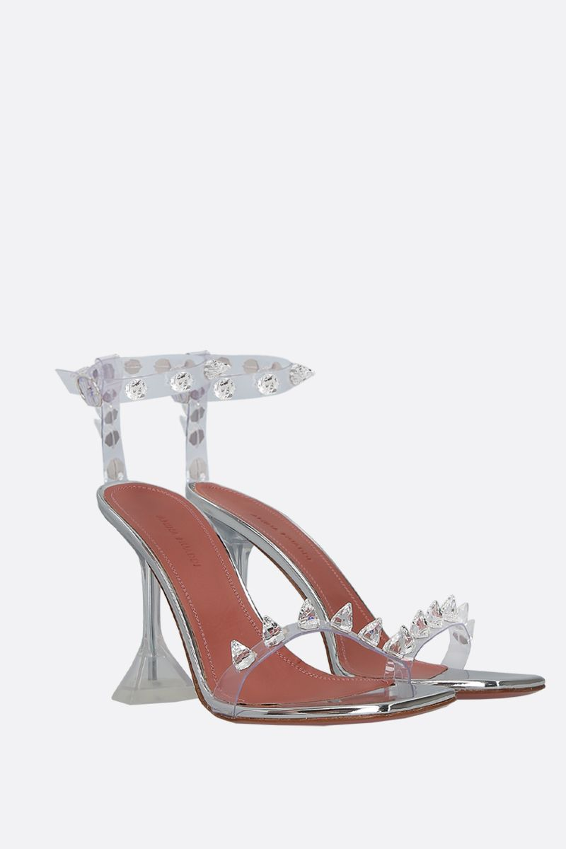 AMINA MUADDI: Julia crystal-embellished PVC sandals Color Neutral_2