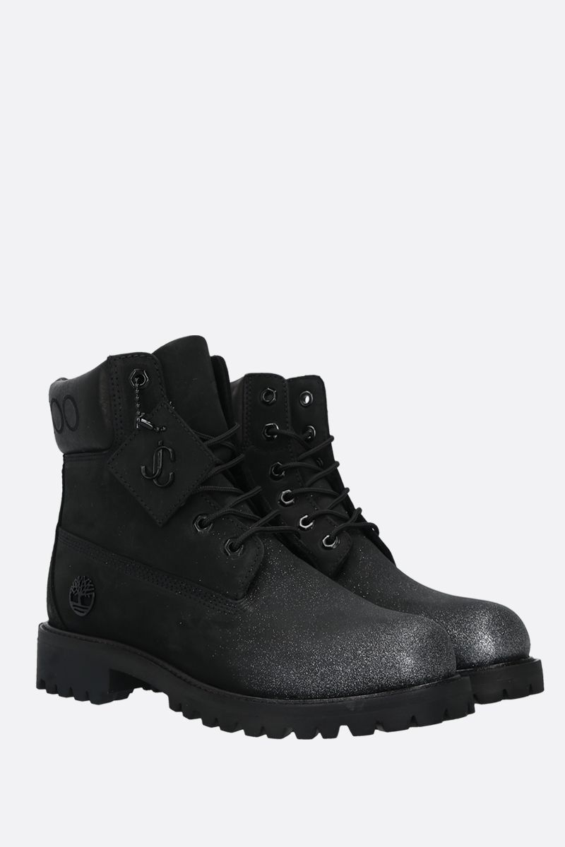 JIMMY CHOO: stivaletto JC xTimberland/F in nabuck Colore Nero_2