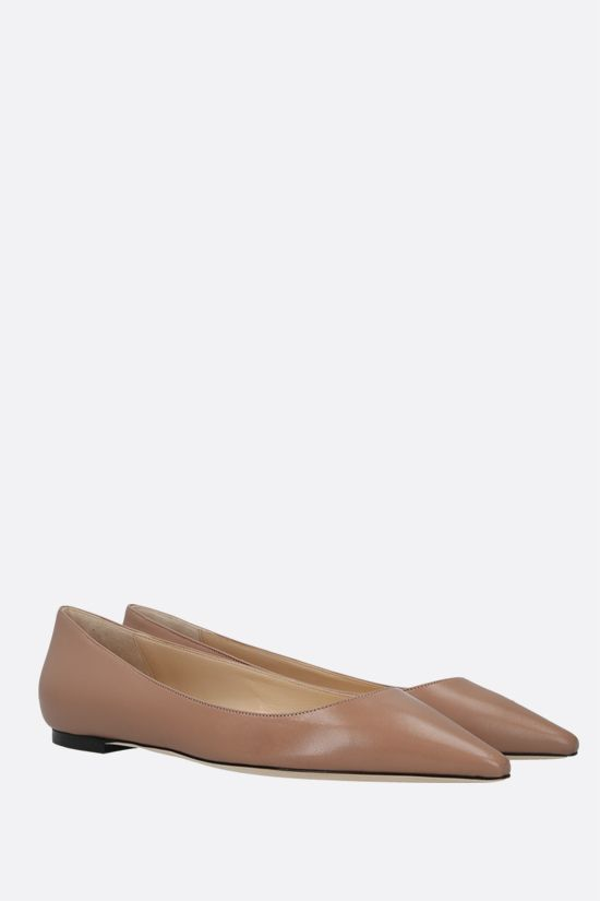 JIMMY CHOO: Romy smooth leather ballerinas Color Pink_2
