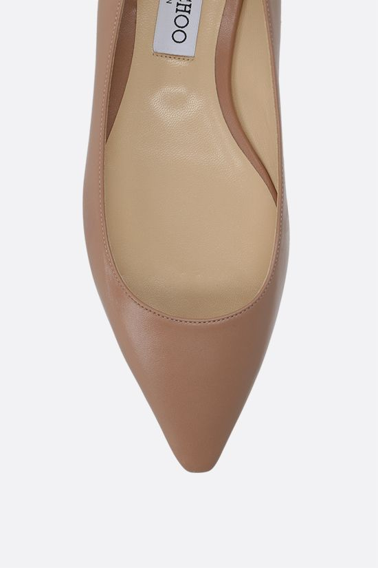 JIMMY CHOO: Romy smooth leather ballerinas Color Pink_4