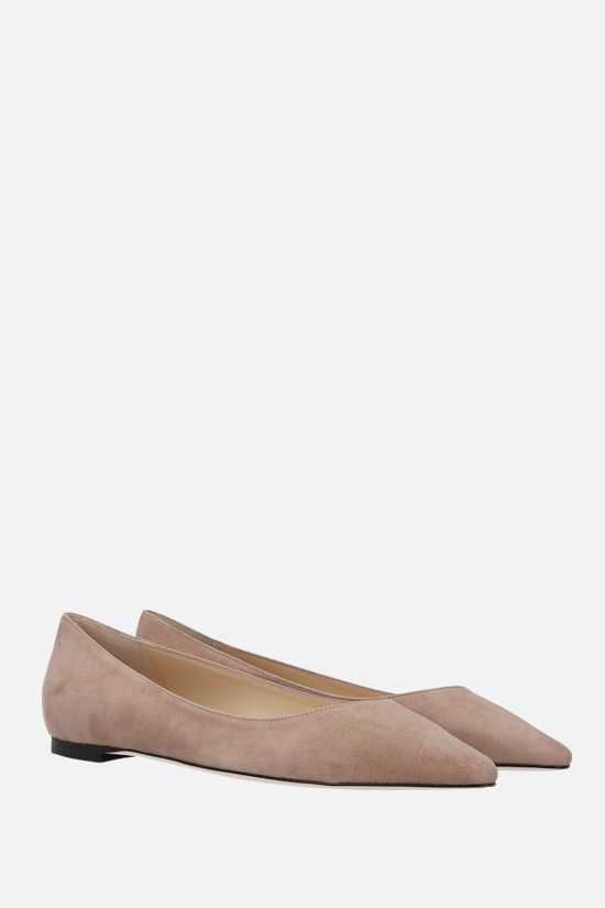 JIMMY CHOO: Romy suede ballerinas Color Pink_2