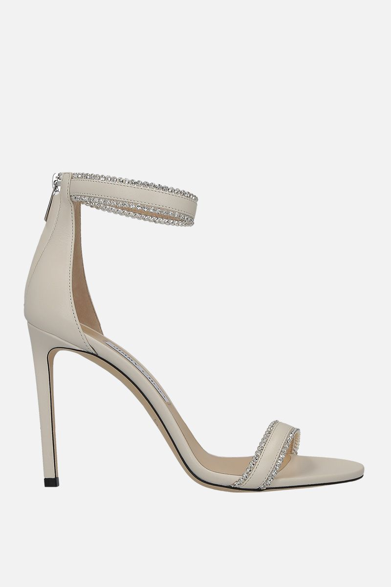 JIMMY CHOO: Dochas sandals in soft nappa Color White_1