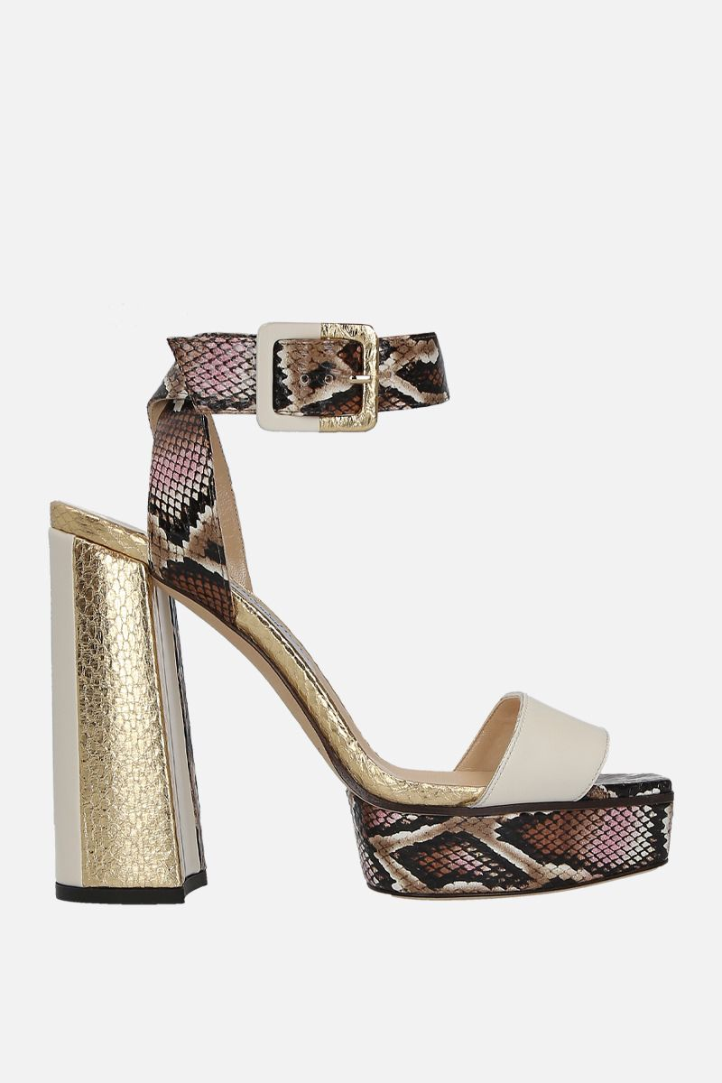 JIMMY CHOO: Jax/PF leather platform sandals_1