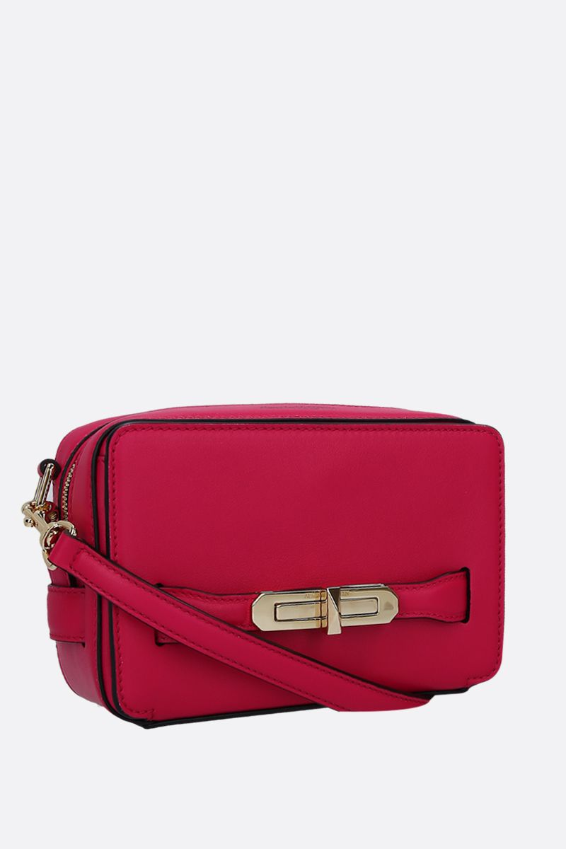 ALEXANDER McQUEEN: The Myth crossbody bag in smooth leather Color Pink_2