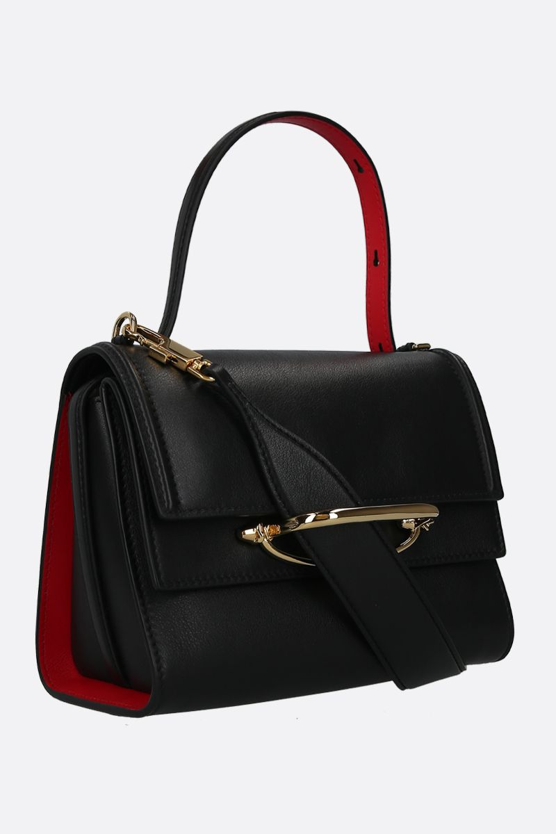 ALEXANDER McQUEEN: The Story crossbody bag in smooth leather Color Black_2