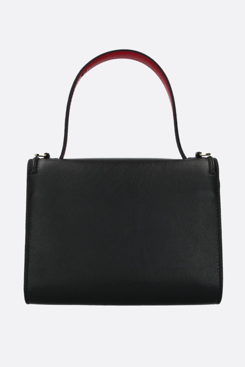 ALEXANDER McQUEEN: The Story crossbody bag in smooth leather Color Black_3