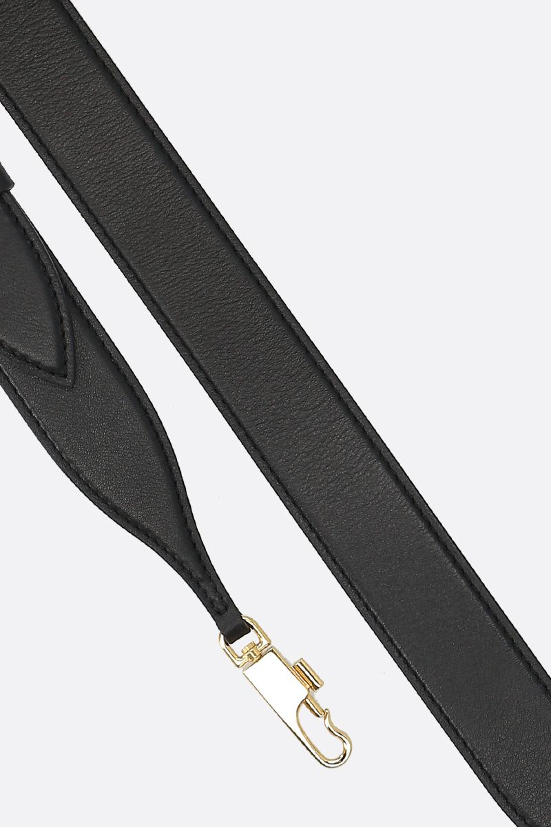 ALEXANDER McQUEEN: The Story crossbody bag in smooth leather Color Black_5
