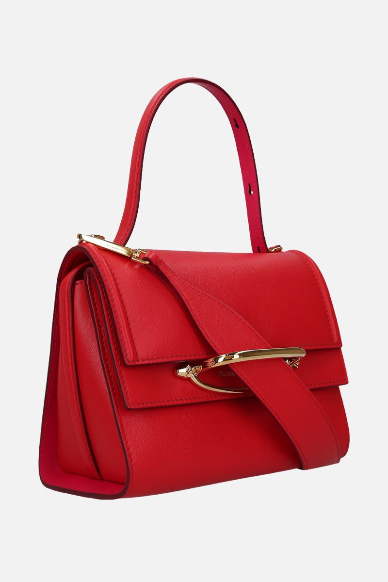 ALEXANDER McQUEEN: The Story crossbody bag in smooth leather Color Red_2