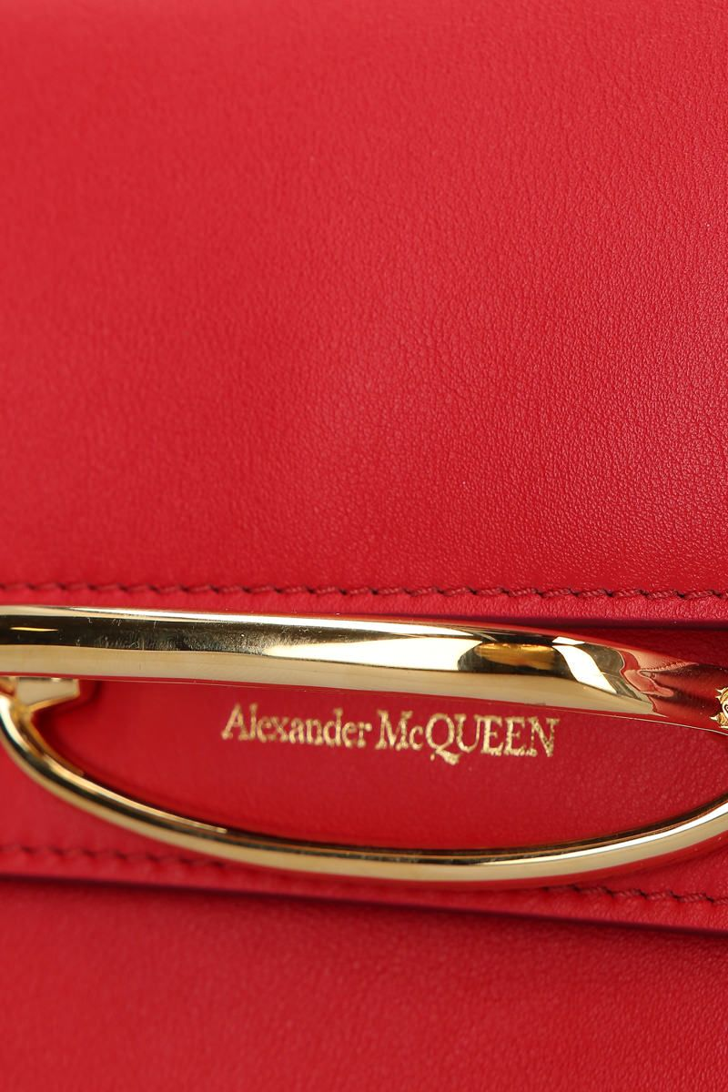 ALEXANDER McQUEEN: The Story crossbody bag in smooth leather Color Red_4
