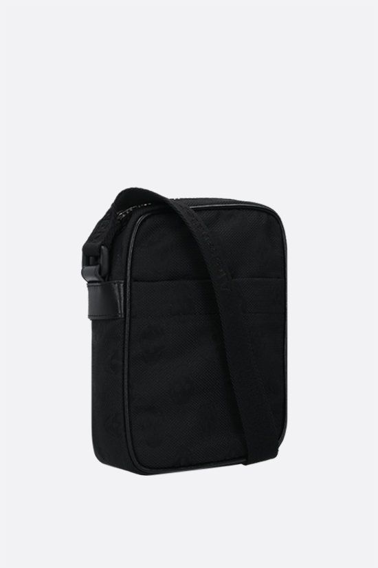 ALEXANDER McQUEEN: Urban mini nylon messenger bag Color Black_2