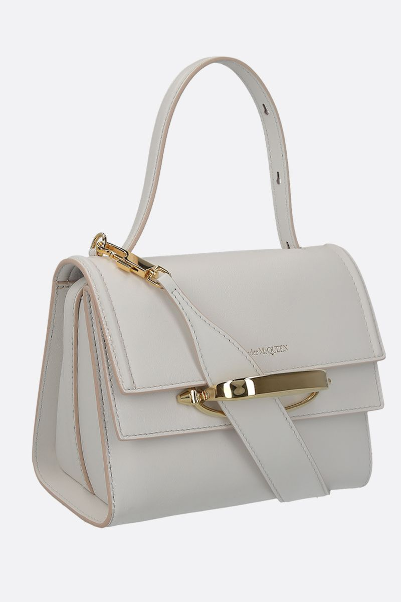 ALEXANDER McQUEEN: The Story smooth leather crossbody bag Color White_3