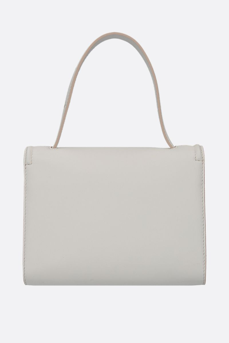 ALEXANDER McQUEEN: The Story smooth leather crossbody bag Color White_4