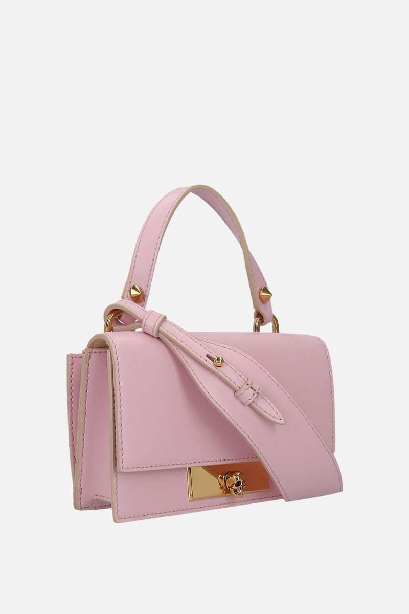 ALEXANDER McQUEEN: smooth leather Skull-lock bag Color Pink_2