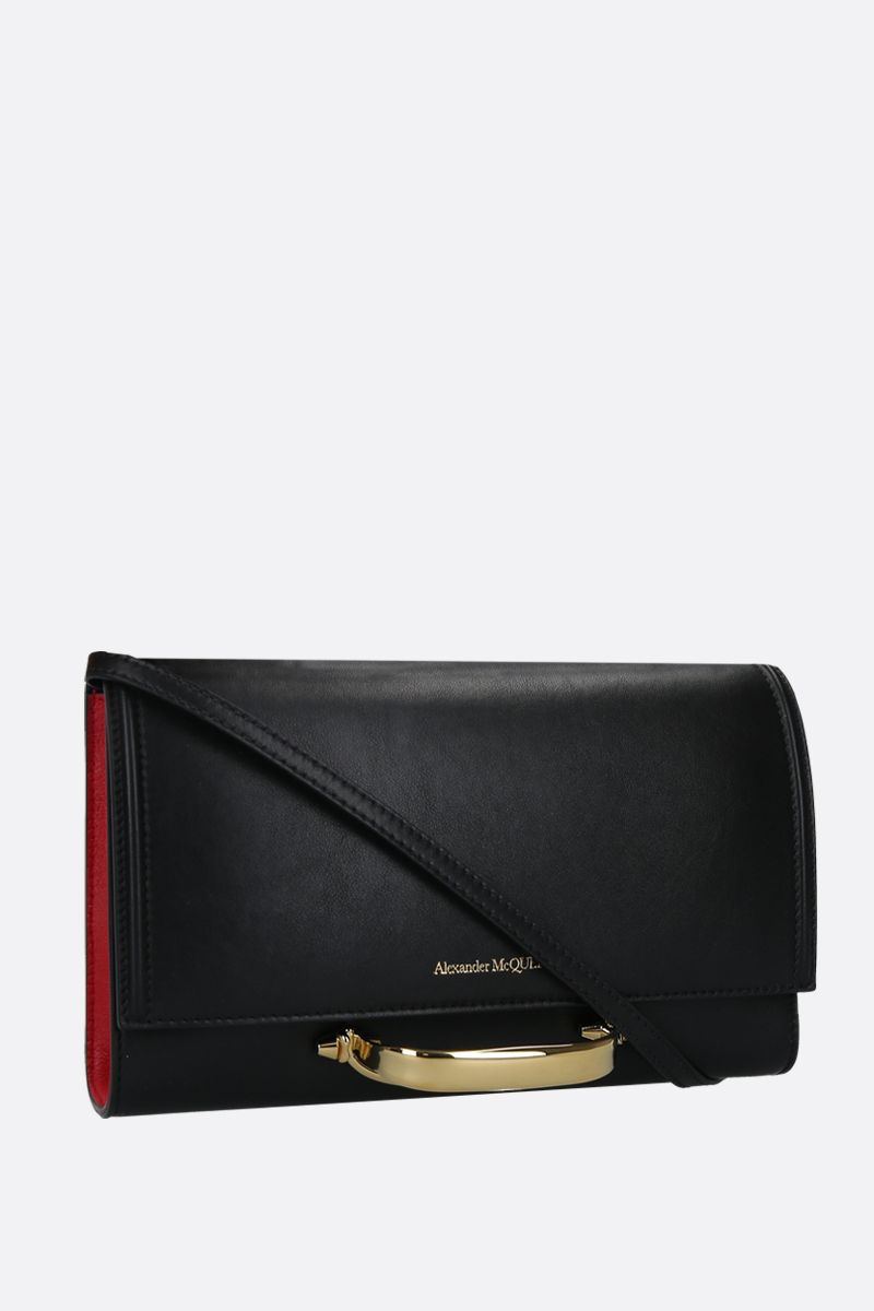 ALEXANDER McQUEEN: The Story small smooth leather shoulder bag Color Black_2