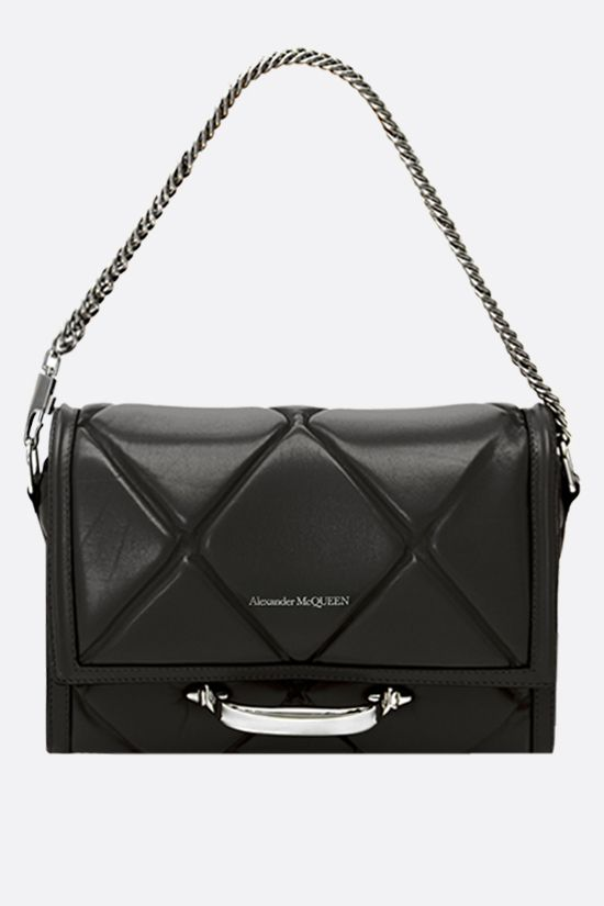 ALEXANDER McQUEEN: The Story quilted leather shoulder bag Color Black_2