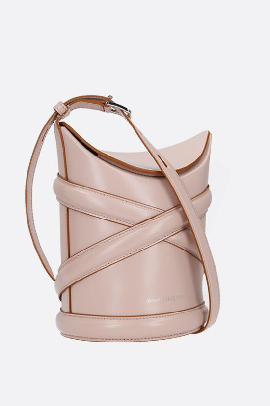 ALEXANDER McQUEEN: The Curve small smooth leather Color Pink_2