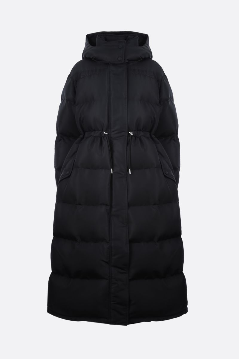 ALEXANDER McQUEEN: polyfaille long padded jacket Color Black_1