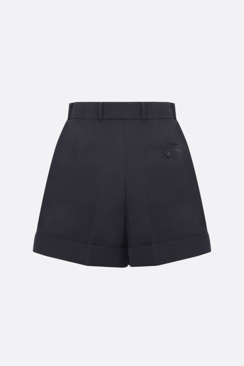 ALEXANDER McQUEEN: cotton silk blend darted shorts Color Black_2