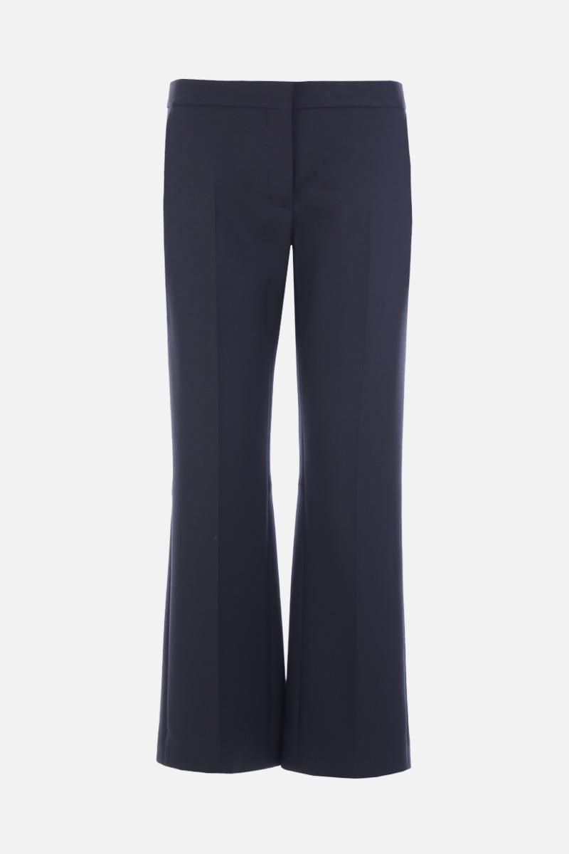 ALEXANDER McQUEEN: lightweight wool cropped pants Color Black_1