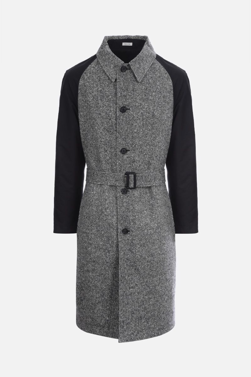 ALEXANDER McQUEEN: wool and cotton reversible overcoat_1