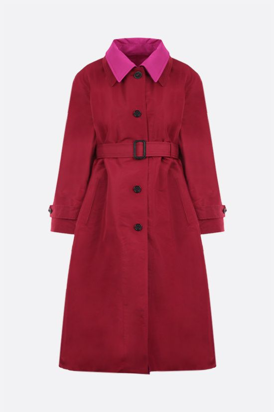 ALEXANDER McQUEEN: taffetà reversible overcoat Color Red_1