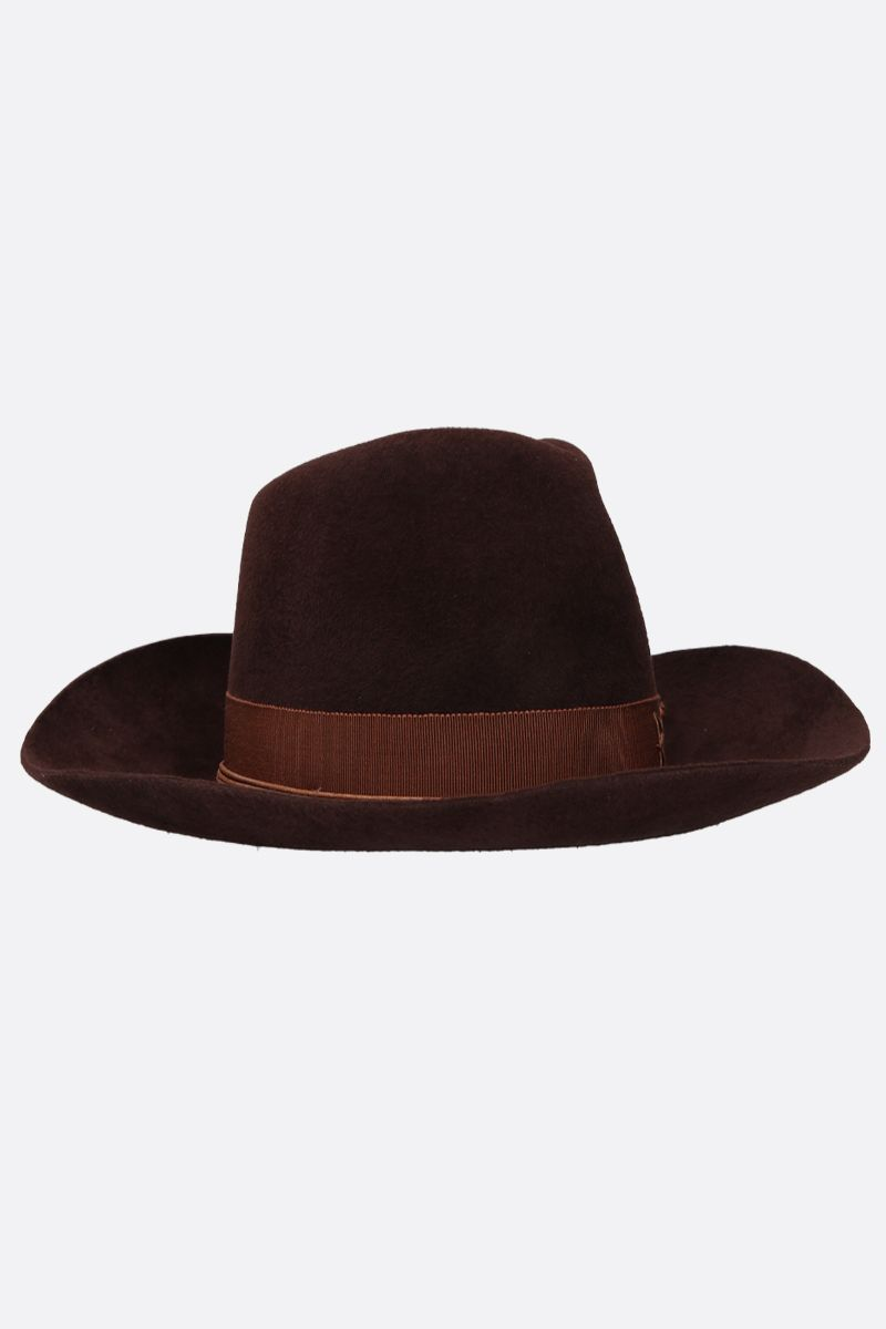 RUSLAN BAGINSKIY: felt cowboy hat Color Brown_2